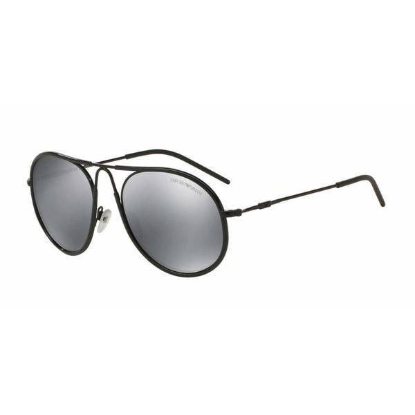 4235f50b93 Shop Emporio Armani Mens EA2034 30146G Black Metal Round Sunglasses - Grey  - Free Shipping Today - Overstock.com - 13469189