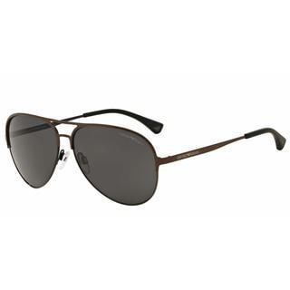 Emporio Armani Mens EA2032 312887 Brown Metal Cateye Sunglasses
