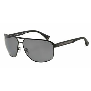 Emporio Armani Mens EA2025 300181 Black Metal Rectangle Sunglasses