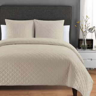 Quilted Washed Belgian Linen Coverlet (2 options available)