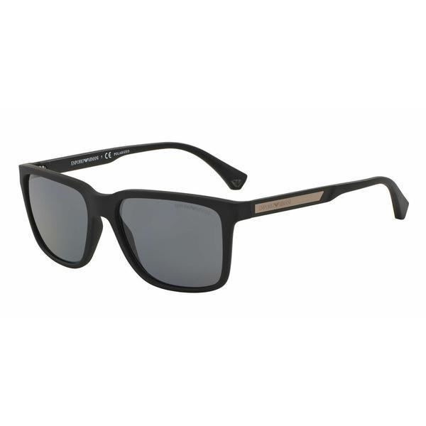 ee7ea04da7cd Shop Emporio Armani Mens EA4047 506381 Black Plastic Square Sunglasses -  Grey - Free Shipping Today - Overstock.com - 13469221