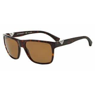 b282c042c9a8 Emporio Armani Mens EA4035 502683 Havana Plastic Square Sunglasses