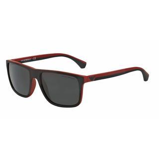 Emporio Armani Mens EA4033 532487 Black Plastic Square Sunglasses