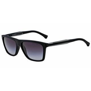 Emporio Armani Mens EA4001 50638G Black Plastic Rectangle Sunglasses