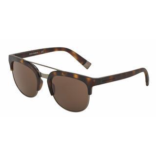 Dolce & Gabbana Mens DG6103 302873 Plastic Plastic Square Sunglasses