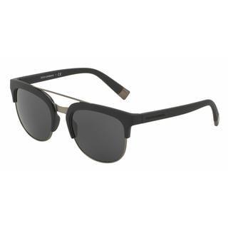 Dolce & Gabbana Mens DG6103 193487 Plastic Plastic Square Sunglasses