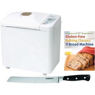 Panasonic Automatic Bread Maker w/ Gluten Free Bread Recipe Book & Bread Knife