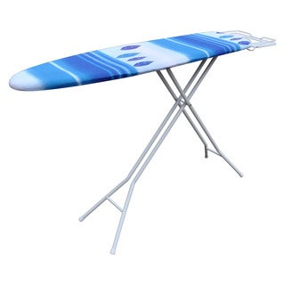 White and Blue Gradient Metal and Mesh Ironing Board