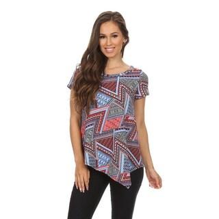 Women's Geometric Tapestry Pattern Top
