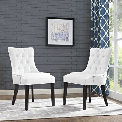 Regent Vinyl Button Tufted Dining Chair (Single Chair)