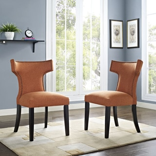 Curve Fabric Dining Chair (Single Chair)