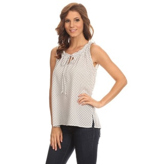 Women's Sleeveless Front Keyhole Tank Top