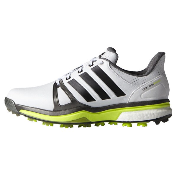 Adidas Adipower Boost 2 Golf Shoes  FTWR White/Dark Silver Metallic
