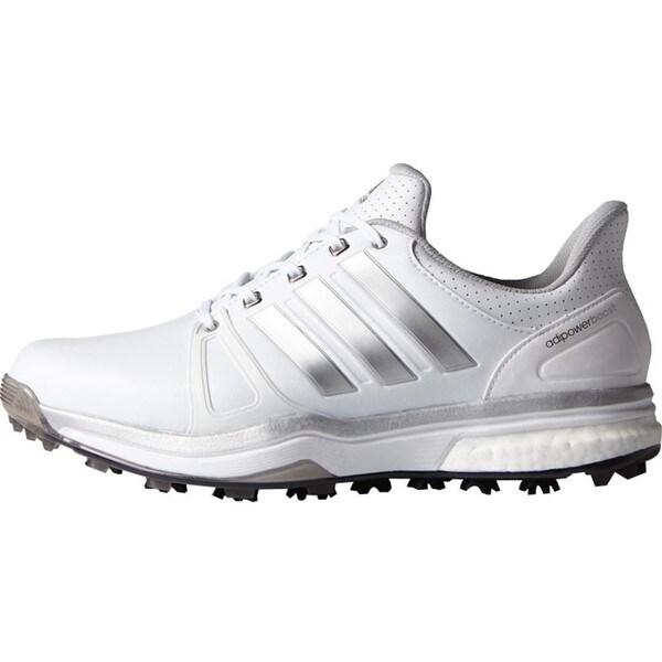 Adidas Adipower Boost 2 Golf Shoes FTWR White/Silver Metallic