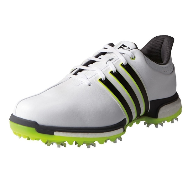 2a53155ae Shop Adidas Tour360 Boost Golf Shoes White Core Black Solar Yellow - Free  Shipping Today - Overstock - 13470381