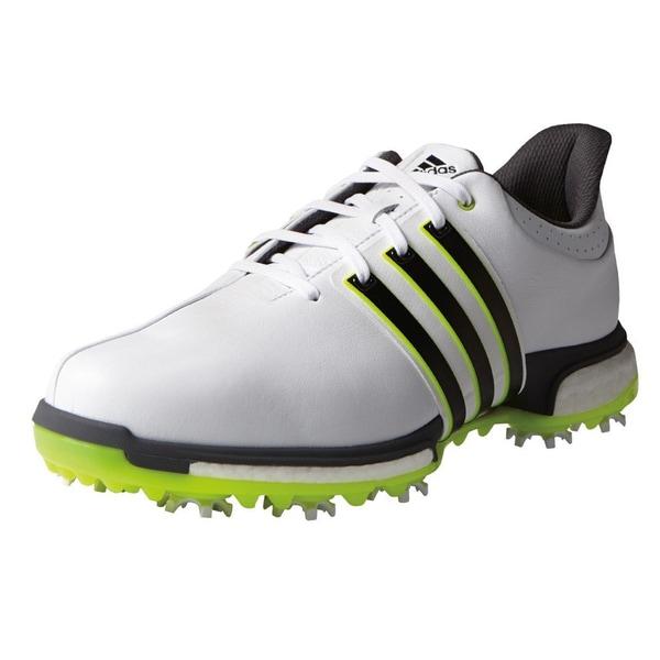 Adidas Tour360 Boost Golf Shoes  White/Core Black/Solar Yellow