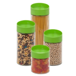 4pc Twist Lid Storage Jar Set