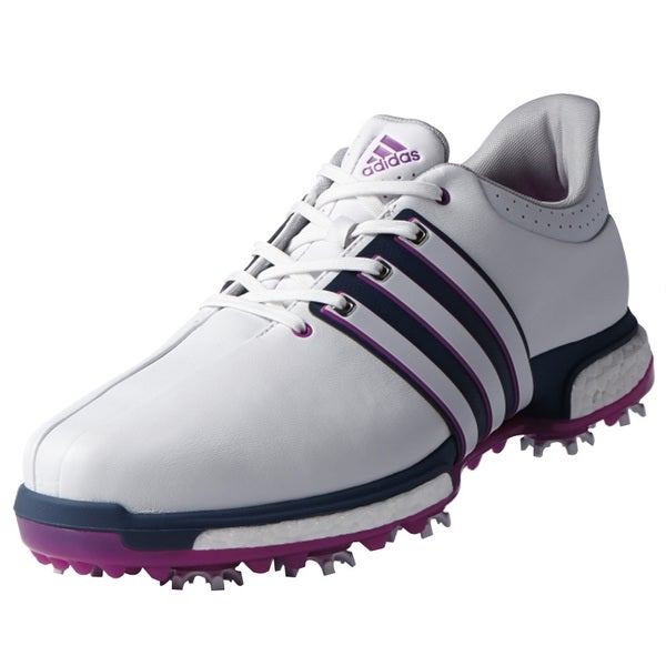 the best attitude 1501a f87ce Shop Adidas Tour360 Boost Golf Shoes FTWR White Flash Pink - Free Shipping  Today - Overstock.com - 13470396