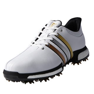 Adidas Tour360 Boost Golf Shoes FTWR White/Gold