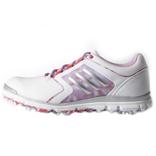 Adidas Adistar Tour Golf Shoes Ladies White/Matte Silver