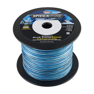 "Spiderwire Stealth Braid Superline Line Spool 1500 Yards, 0.012"" Diameter, 30 lbs Breaking Strength, Blue Camo"