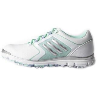Adidas Adistar Tour Golf Shoes Ladies White/Silver Metallic