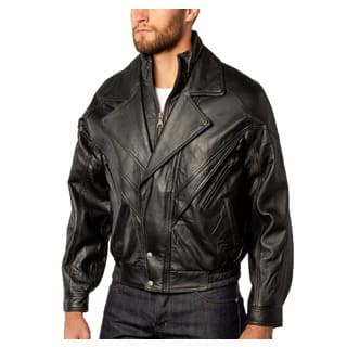 Men's Midway Bomber Leather Jacket Double Collar Zip-out Liner|https://ak1.ostkcdn.com/images/products/13470576/P20157793.jpg?impolicy=medium