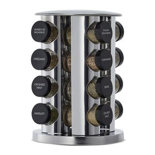 Kamenstein Silver Stainless Steel/Glass 16-jar Spice Rack|https://ak1.ostkcdn.com/images/products/13470582/P20157943.jpg?impolicy=medium