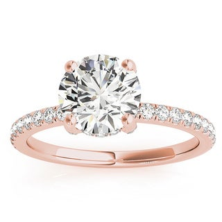 14k Gold 3/4ct TDW Petite Diamond Band Engagement Ring (G-H, VS1-VS2)