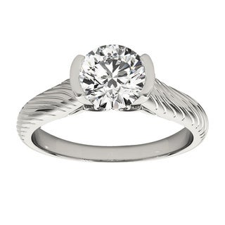 Transcendent Brilliance Tension Set Solitaire Diamond Engagement Ring 1.01 TDW
