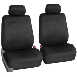 FH Group Neoprene Water Resistent Bucket Seat Covers Black - Airbag Compatible (Set of 2)