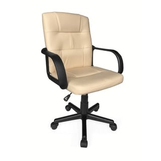 Tufted Leather Mid-back Office Chair