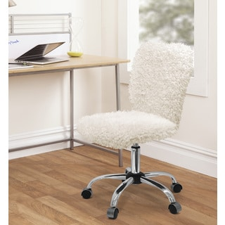 Off white office chair Bedavadinle Silver Orchid Kelly Faux Fur Task Chair Overstock Buy Offwhite Office Conference Room Chairs Online At Overstock