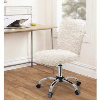 Silver Orchid Kelly Faux Fur Task Chair (3 options available)