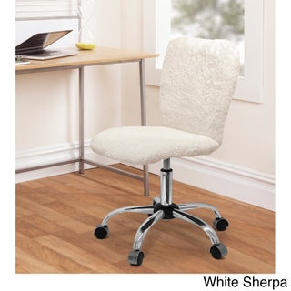 Silver Orchid Kelly Faux Fur Task Chair