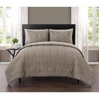 VCNY Iron Gate Embossed 5 And 7 Piece Bed In A Bag With Sheet Set