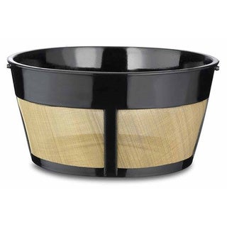 One All Medelco BF215 Black 8-12 Cup Permanent Basket-style Coffee Filter