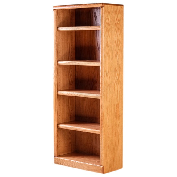 shop forest designs bullnose solid wood 24 inch wide x 60 inch high x 13 inch deep bookcase. Black Bedroom Furniture Sets. Home Design Ideas