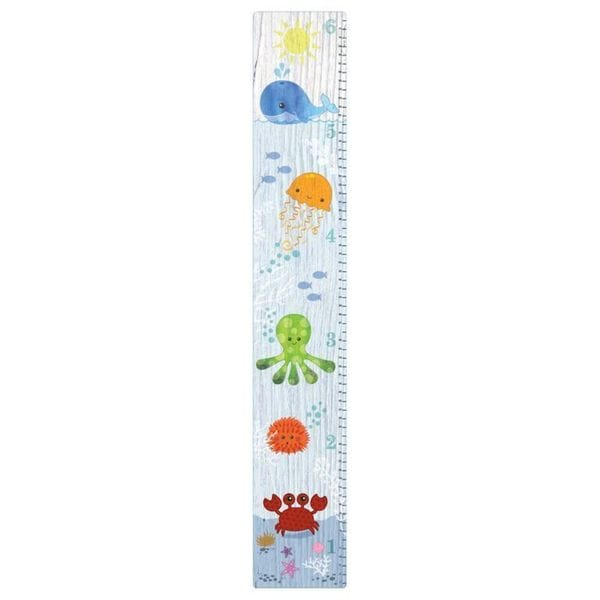Shop Under The Sea Sticky Wall Canvas Growth Chart Free Shipping