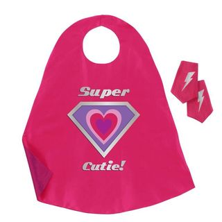 Girls' Super Cutie Pink and Purple Cape and Cuff Set