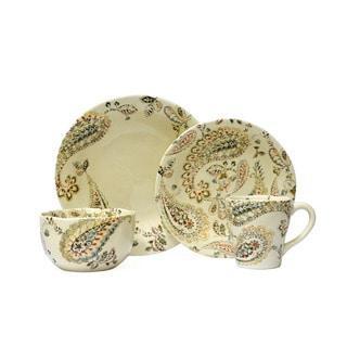 222 Fifth Indira Multicolored Porcelain 16-piece Dinnerware Set