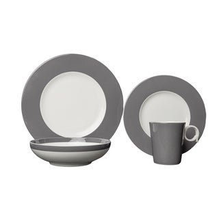 Red Vanilla Freshness Bandy Grey Porcelain 16-piece Dinner Set