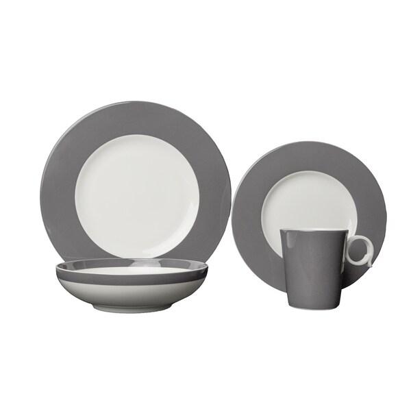 Red Vanilla Freshness Bandy Grey Porcelain 16-piece Dinner Set