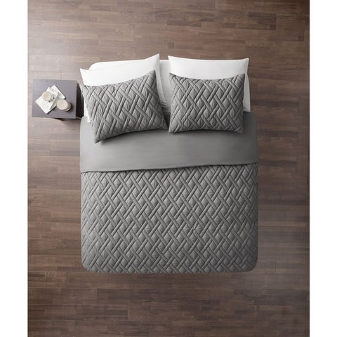 VCNY Lattice Embossed 7-Piece Bed-in-a-Bag with Sheet Set