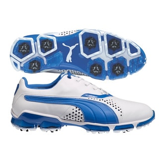 Puma Men's TitanTour White/ Strong Blue Golf Shoes