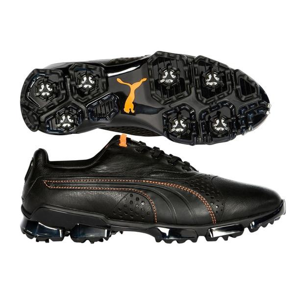 Puma Men's TitanTour King Black/ Vibrant Orange Golf Shoes