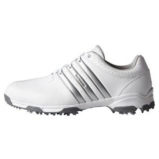 Adidas Men's 360 Traxion White/ Silver Metallic Golf Shoes