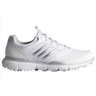 Adidas Women's Adistar Sport White/ Matte Silver/ Wild Orchid Golf Shoes