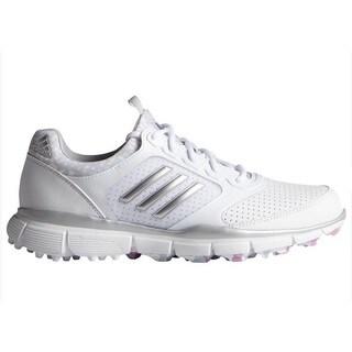 Adidas Women's Adistar Sport White/ Matte Silver/ Wild Orchid Golf Shoes