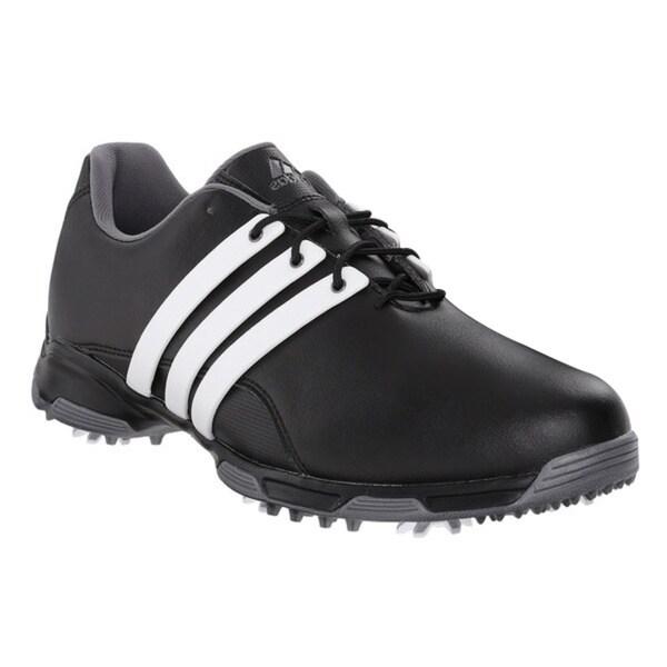 Adidas Men's Pure TRX Core Black/White/Dark Silver Metallic Golf Shoes